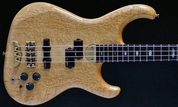 Alembic Elan 4 four string bass, Bird's Eye Maple top, 1989 Second