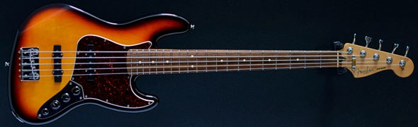 fender made in mexico jazz bass deluxe five string 3 tone sunburst 1999 second hand bass. Black Bedroom Furniture Sets. Home Design Ideas