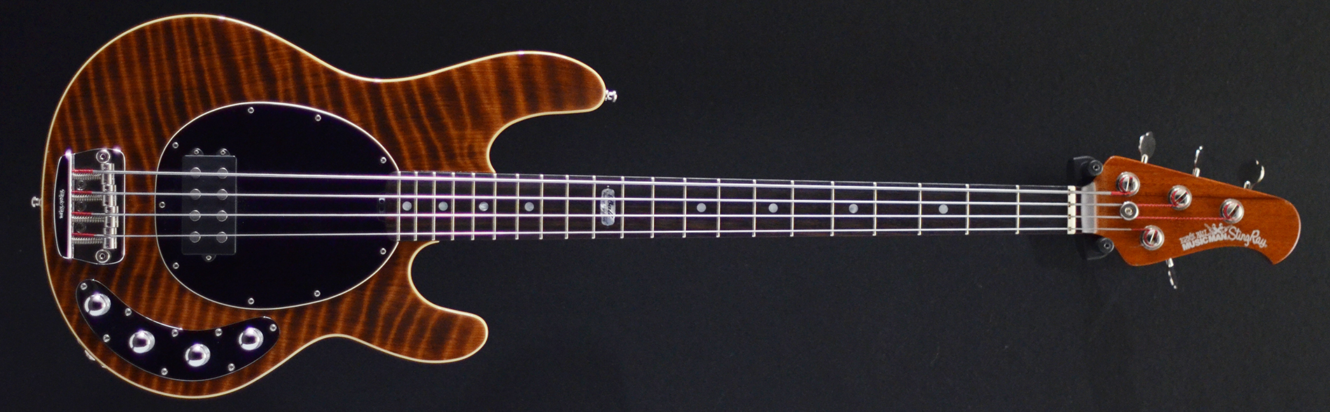 stingray 4 bfr redwood 2008 second hand bass guitar stock used preowned maple neck active