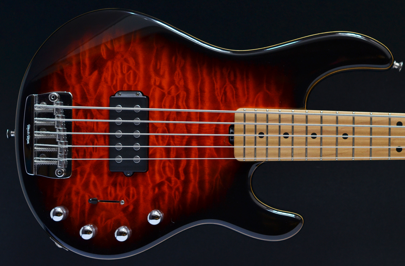 ernie ball stingray 5 20th anniversary second hand bass guitar stock used preowned maple. Black Bedroom Furniture Sets. Home Design Ideas