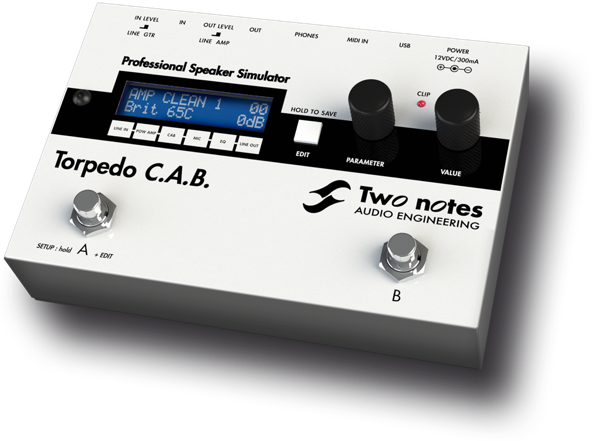 two notes engineering torpedo c a b amp simulation pedal for sale for sale uk eu on. Black Bedroom Furniture Sets. Home Design Ideas